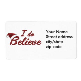 I do believe in Santa Label