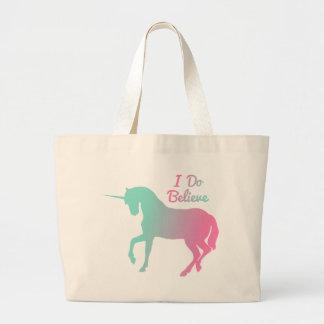 I Do Believe In Unicorns Large Tote Bag