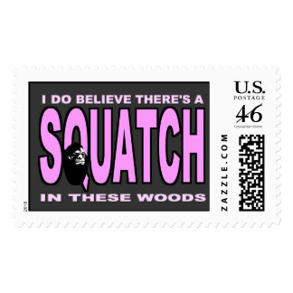 I do Believe There's a SQUATCH - Pink Lady Version Stamp