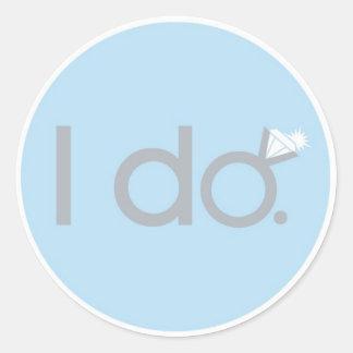 I do BLING! Classic Round Sticker