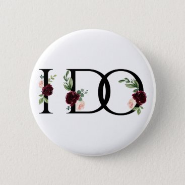 Wedding Themed I Do | Bridal Crew Bachelorette Party Boho Chic Button