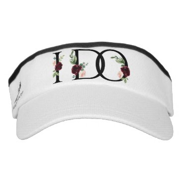 Wedding Themed I Do | Bridal Crew Bachelorette Party Boho Chic Visor