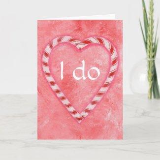 I do, Candy Cane, wedding invitation cards card