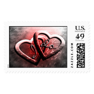 I Do Classic Wedding Hearts Joined RSVP Save Date Postage Stamp