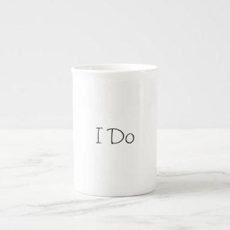 I Do Coffee Mug Porcelain Mugs