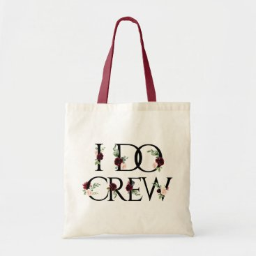 Wedding Themed I Do Crew | Bridal Bachelorette Party Boho Chic Tote Bag