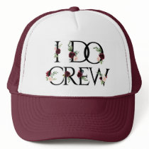 I Do Crew | Bridal Bachelorette Party Boho Chic Trucker Hat