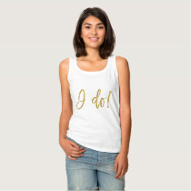 I Do Crew Faux Gold Foil and White Shirt