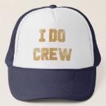 "I Do Crew Gold Glitter Bride Bachelorette Hat<br><div class=""desc"">I Do Crew Gold Glitter Bride Bachelorette Hat</div>"