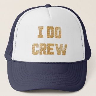 I Do Crew Gold Glitter Bride Bachelorette Hat