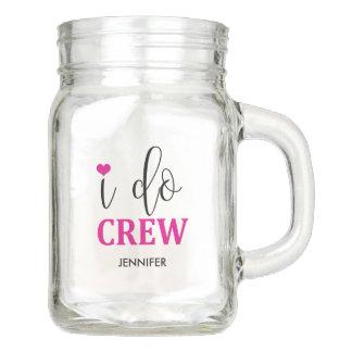 I do Crew Hot Pink Heart Cute Bridesmaid Jar