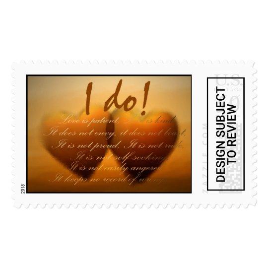 I do Custom Heart Wedding Stamp