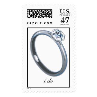 i do custom wedding postage stamp