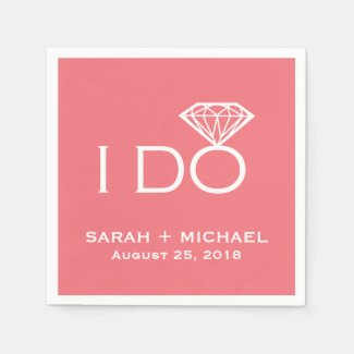 I Do Diamond | Wedding Napkin