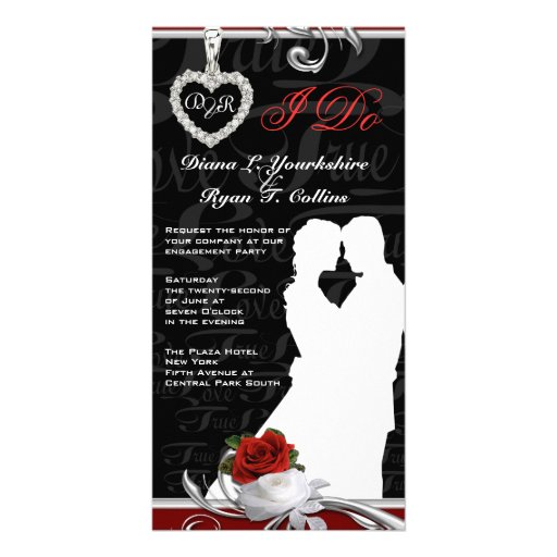 """""""I Do"""" Engagement Party Card Personalized Photo Card"""