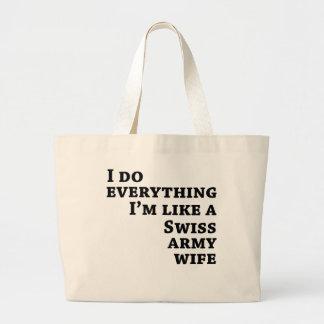 I do everything jumbo tote bag