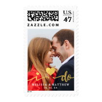 I Do Faux Gold Photo | Save the Date Stamps