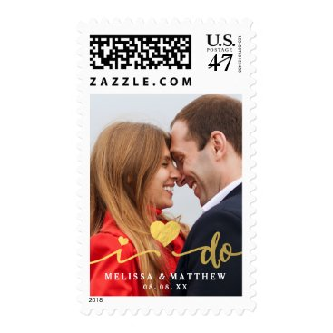 monogramgallery I Do Faux Gold Photo | Save the Date Stamps