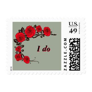 """""""I do"""" floral wedding stamp"""