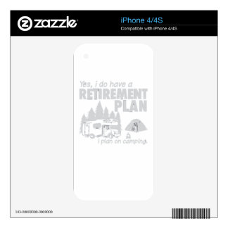 I Do Have A Retirement Plan, I Plan On Camping Skin For iPhone 4