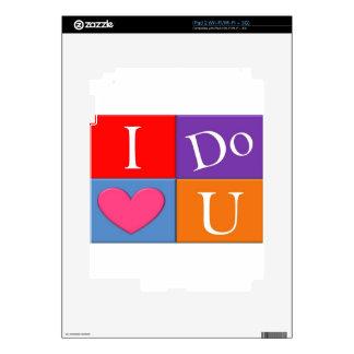 I Do Heart U iPad 2 Decal
