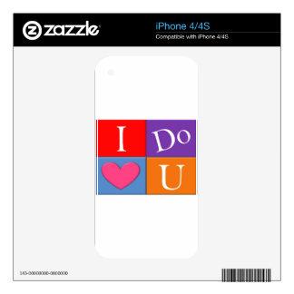 I Do Heart U iPhone 4S Skin
