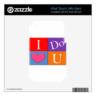 I Do Heart U iPod Touch 4G Skin