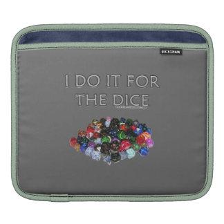 I Do It For the Dice (Pile o Dice) iPad Sleeve