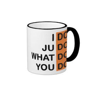 I Do Judo... Ringer Mug