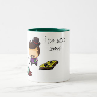 I do kid's shows Two-Tone coffee mug