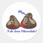 I do love Chocolate Classic Round Sticker