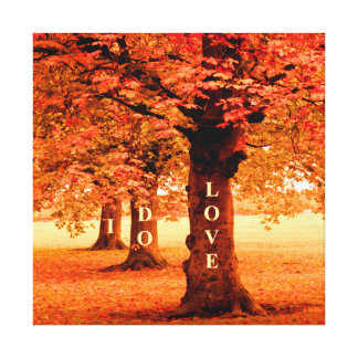 I DO LOVE Fall Canvas Print