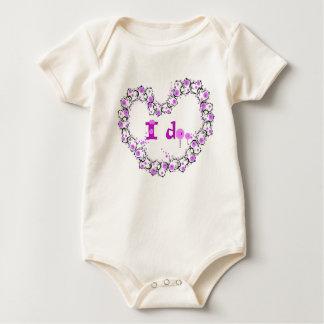 I do Love lolliop candy Baby Bodysuit
