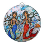 I do, Mermaid Couple Painting by Prisarts Dart Boards