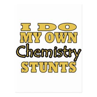I Do My Own Chemistry Stunts Postcard
