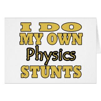 I Do My Own Physics Stunts Cards