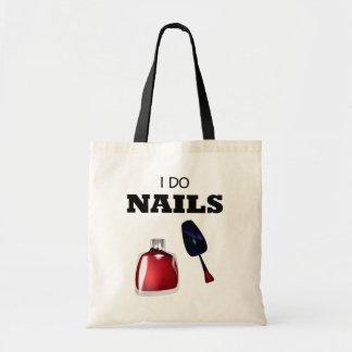 I Do Nails(Nail Technician) Budget Tote Bag