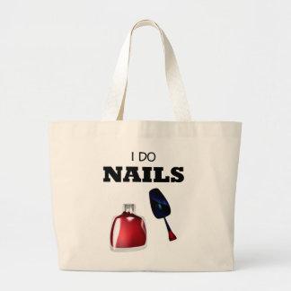 I Do Nails(Nail Technician) Large Tote Bag