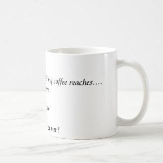 I do not communicate until my coffee reaches...... coffee mug