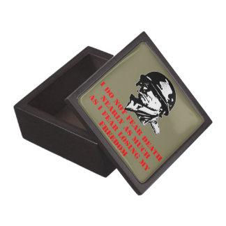 I Do Not Fear Death I Fear Losing My Freedom Keepsake Box