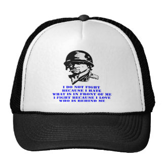 I Do Not Fight Because I Hate What Is In Front Trucker Hat