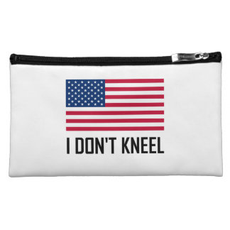 I Do Not Kneel American Flag National Anthem Cosmetic Bag