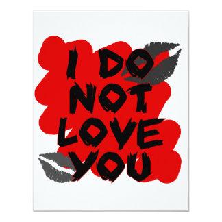 I Do Not Love You Custom Invites