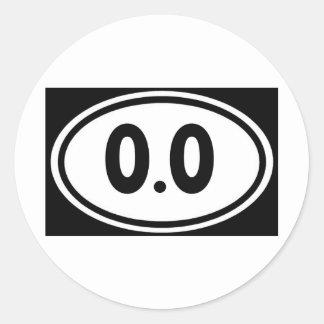 I do not run 0.0 Design hate running Classic Round Sticker
