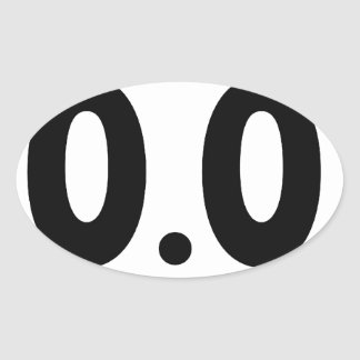 I do not run 0.0 Design hate running Oval Sticker