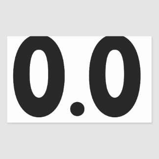 I do not run 0.0 Design hate running Rectangular Sticker