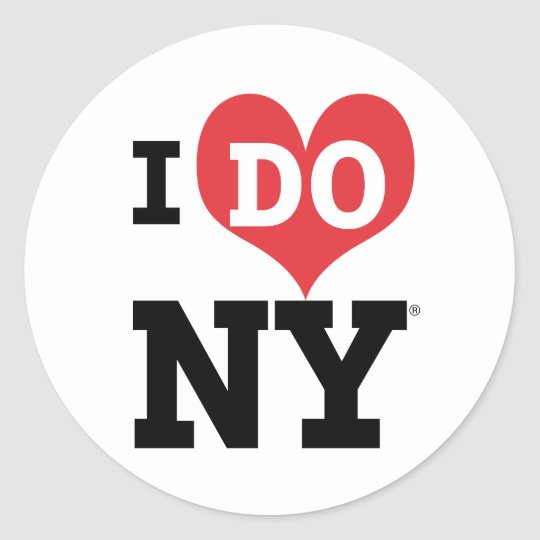 I DO NY heart Classic Round Sticker