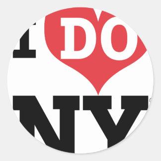 I DO NY heart Classic Round Sticker
