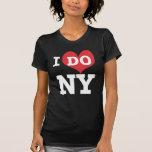 I DO NY heart, white lettering Tees