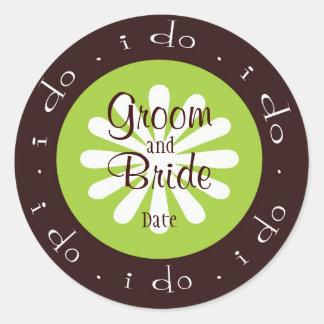 """""""i do"""" Personalized Wedding Sticker"""